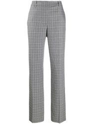 Essentiel Antwerp Check Print Straight Leg Trousers Black