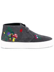 Mira Mikati Lace Up Patched Ankle Boots Grey