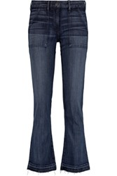 3X1 Mid Rise Faded Bootcut Jeans Blue