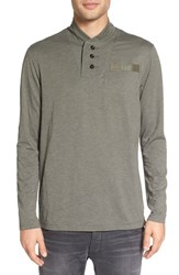 G Star Men's Raw 'Gilik' Shawl Collar Long Sleeve T Shirt Grey