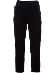 Golden Goose Deluxe Brand Cropped Corduroy Trousers Blue