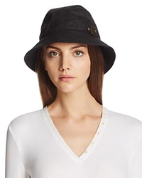 Barbour Waxed Cotton All Weather Trench Hat Black