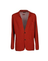 Tonello Knitwear Cardigans Men Brick Red