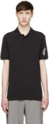Y 3 Black Tonal Logo Polo