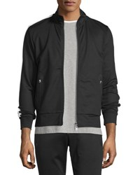 Moncler Zip Up Track Jacket W Side Stripe Black