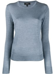 Theory Crewneck Jumper Blue