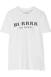 Brian Lichtenberg Burrr Printed Cotton T Shirt White