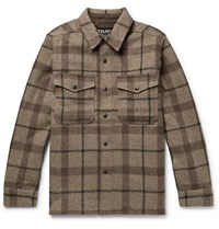 Filson Checked Mackinaw Wool Shirt Jacket Brown