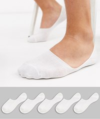New Look Invisible Socks In White 5 Pack