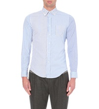 Lardini Multi Striped Cotton Shirt Blue
