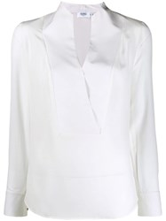 Barba Plain Button Shirt White