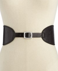 Inc International Concepts Reversible Shaped Waist Belt Only At Macy's Black