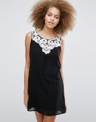 Pussycat London Lace Bib Dress Black