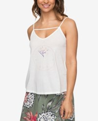 Roxy Juniors' Once Again Graphic Tank Top Marshmallow