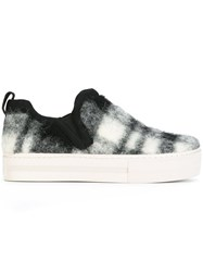 Ash Checked Slip On Sneakers Black