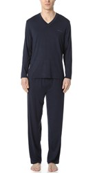 Hugo Boss Seacell Pajama Set Navy