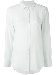 Equipment Classic Shirt Women Silk Xs Green