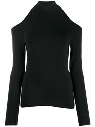 Alexander Wang Backless Turtleneck Top Black