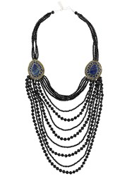 Night Market Multi String Necklace Black