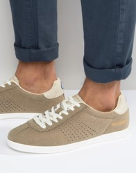 Lambretta Retro Trainers In Taupe Grey Beige