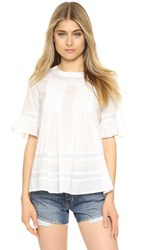 English Factory Lace Boho Blouse Off White