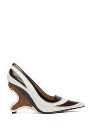 Marni Sculpted Heeled Pumps White