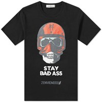 Undercover Stay Bad Ass Print Tee Black