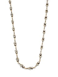 Azaara Vintage By Swarovski Crystal Silver And Copper Antique Floral Station Necklace Antique Gold