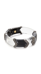 Alexis Bittar Chevron Sectioned Bracelet Black Clear