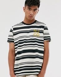 Nudie Jeans Co Roy Barcode Stripe T Shirt In White