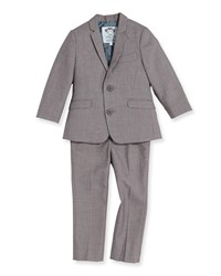 Appaman Boys' Two Piece Mod Suit Mist 2T 14 Light Gray
