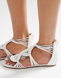 New Look Pretty Crochet Sandal White