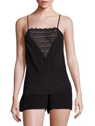 Mimi Holliday Bisou V Inset Silk Camisole Black