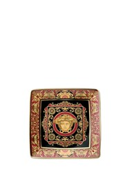 Versace Medusa Red Valet Tray Red Gold