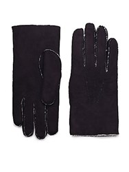 Saks Fifth Avenue Shearling Gloves Black