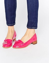 Ravel Tassel Loafers Fuschia Pink