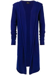 Lost And Found Ria Dunn Hooded Long Cardigan Blue