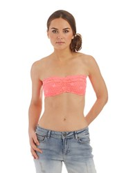 Free People Stretch Lace Bandeau Fiesta Pink