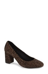 The Flexx Seriously Pump Leopard Print Flocked Leather