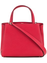 Valextra Small Tote Women Calf Leather One Size Red