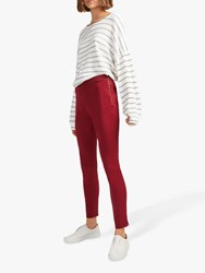 French Connection Kara Skinny Trousers Rosso Red