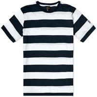 Needles Wide Stripe Pocket Tee Black And White