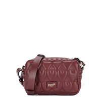 Red Valentino Beating Hearts Leather Cross Body Bag Bordeaux