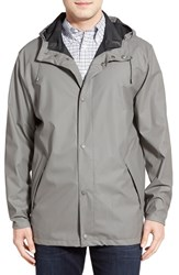 Men's Cole Haan Rubberized Raincoat Ironstone