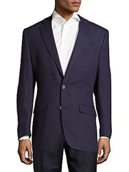 Lauren Ralph Lauren Solid Notch Lapel Jacket Navy