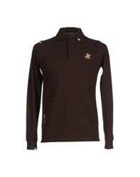 Beverly Hills Polo Club Topwear Polo Shirts Men Dark Brown