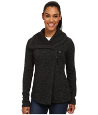 Smartwool Odessa Lake Wrap Charcoal Heather Women's Long Sleeve Pullover Gray
