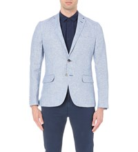 Orlebar Brown Edgar Linen Blazer Royal Blue