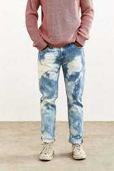 Urban Outfitters Bleached Stonewash Levi's 511 Slim Jean Light Blue