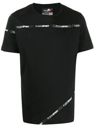 Plein Sport Logo Band T Shirt Black